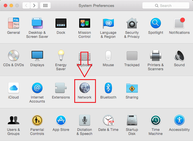 Network mac os