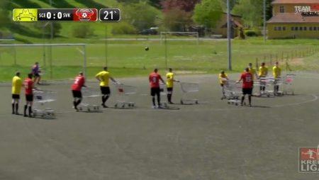 ĐỘC LẠ: Đội bóng Đức vừa đẩy xe siêu thị vừa đá bóng – Nhà Cái Fun88