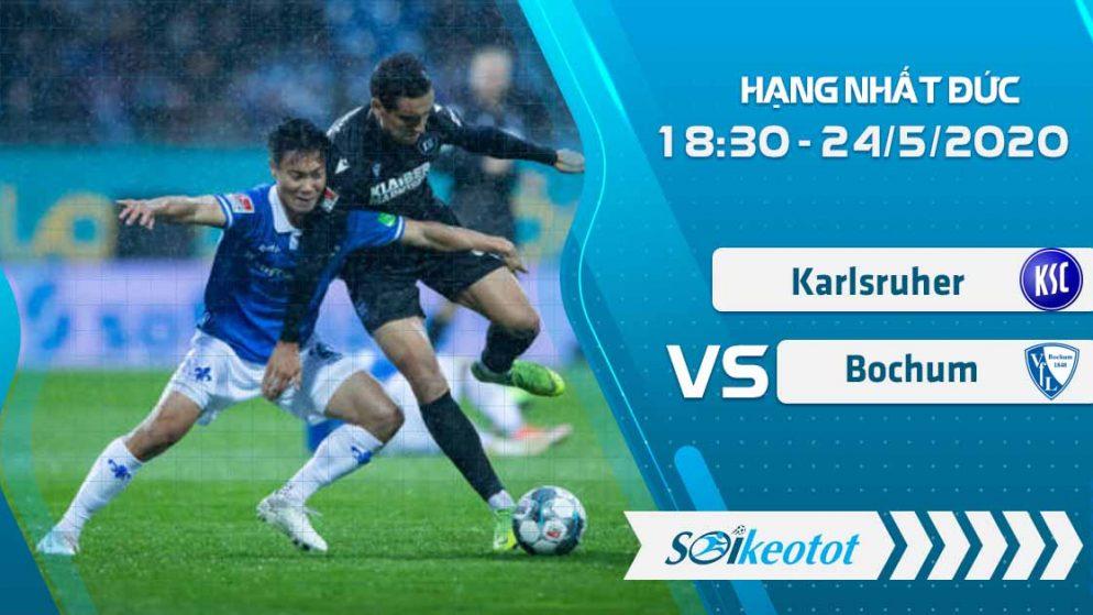 W88 Dự đoán Karlsruher vs Bochum lúc 18h30 ngày 24/5/2020