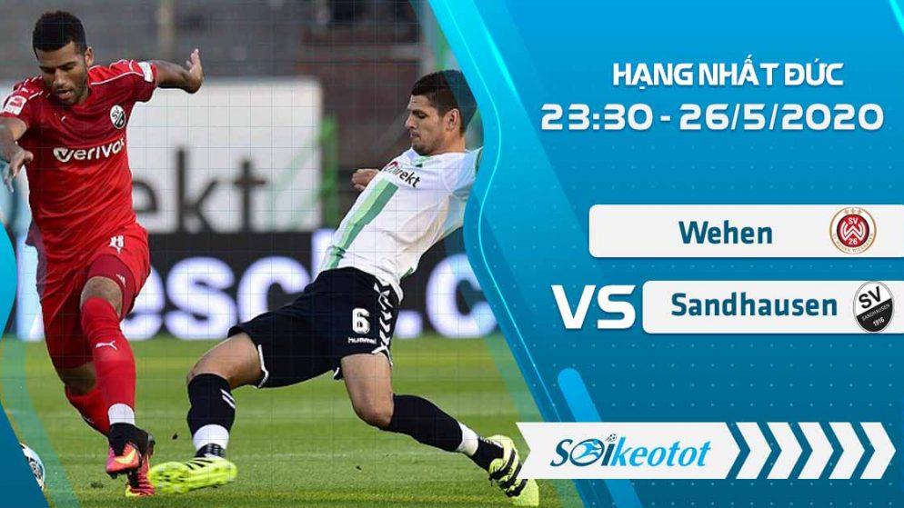 W88 Dự đoán Wehen vs Sandhausen lúc 23h30 ngày 26/5/2020