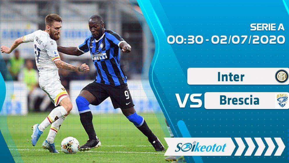 W88 Dự đoán Inter vs Brescia lúc 0h30 ngày 2/7/2020