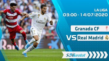 W88 Dự đoán Granada CF vs Real Madrid lúc 3h ngày 14/7/2020