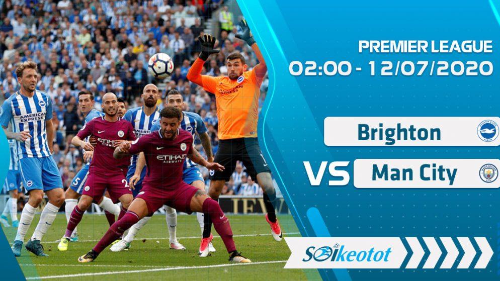W88 Dự đoán Brighton vs Manchester City lúc 2h ngày 12/7/2020