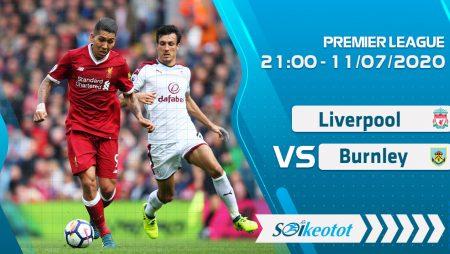 W88 Dự đoán Liverpool vs Burnley lúc 21h ngày 11/7/2020