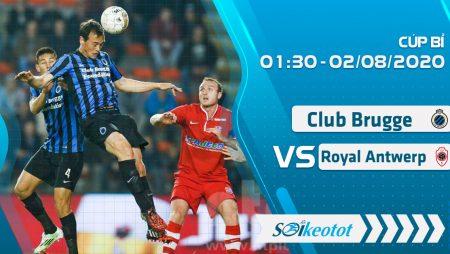 W88 Dự đoán Club Brugge vs Royal Antwerp lúc 1h30 ngày 2/8/2020