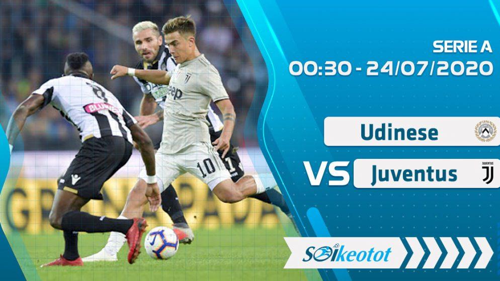 W88 Dự đoán Udinese vs Juventus lúc 0h30 ngày 24/7/2020