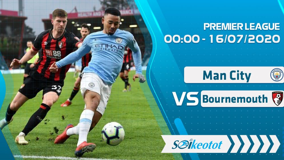 W88 Dự đoán Manchester City vs Bournemouth lúc 0h ngày 16/7/2020