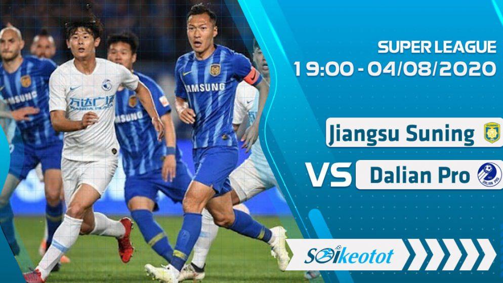 W88 Dự đoán Jiangsu Suning vs Dalian Pro lúc 19h ngày 4/8/2020