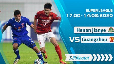 W88 Dự đoán Henan Jianye vs Guangzhou Evergrande lúc 17h ngày 14/8/2020