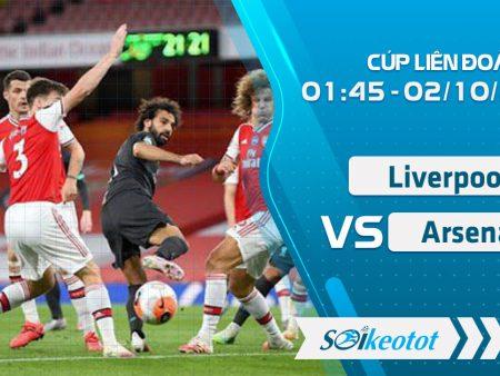 W88 Dự đoán Liverpool và Arsenal lúc 1h45 ngày 2/10/2020