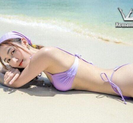 Á hậu Đại dương Hà Thu khoe trọn vóc dáng với nội y bikini sexy