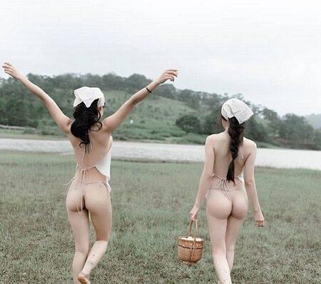 Á hậu Thư Dung nude không che tại Tuyệt Tình Cốc Đà Lạt