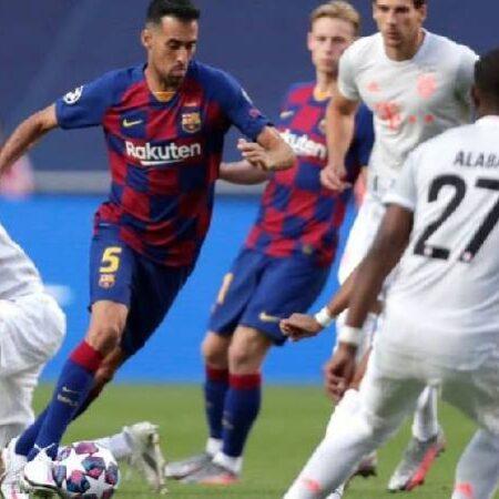 Biến động tỷ lệ kèo Barcelona vs Bayern Munich, 2h ngày 15/9