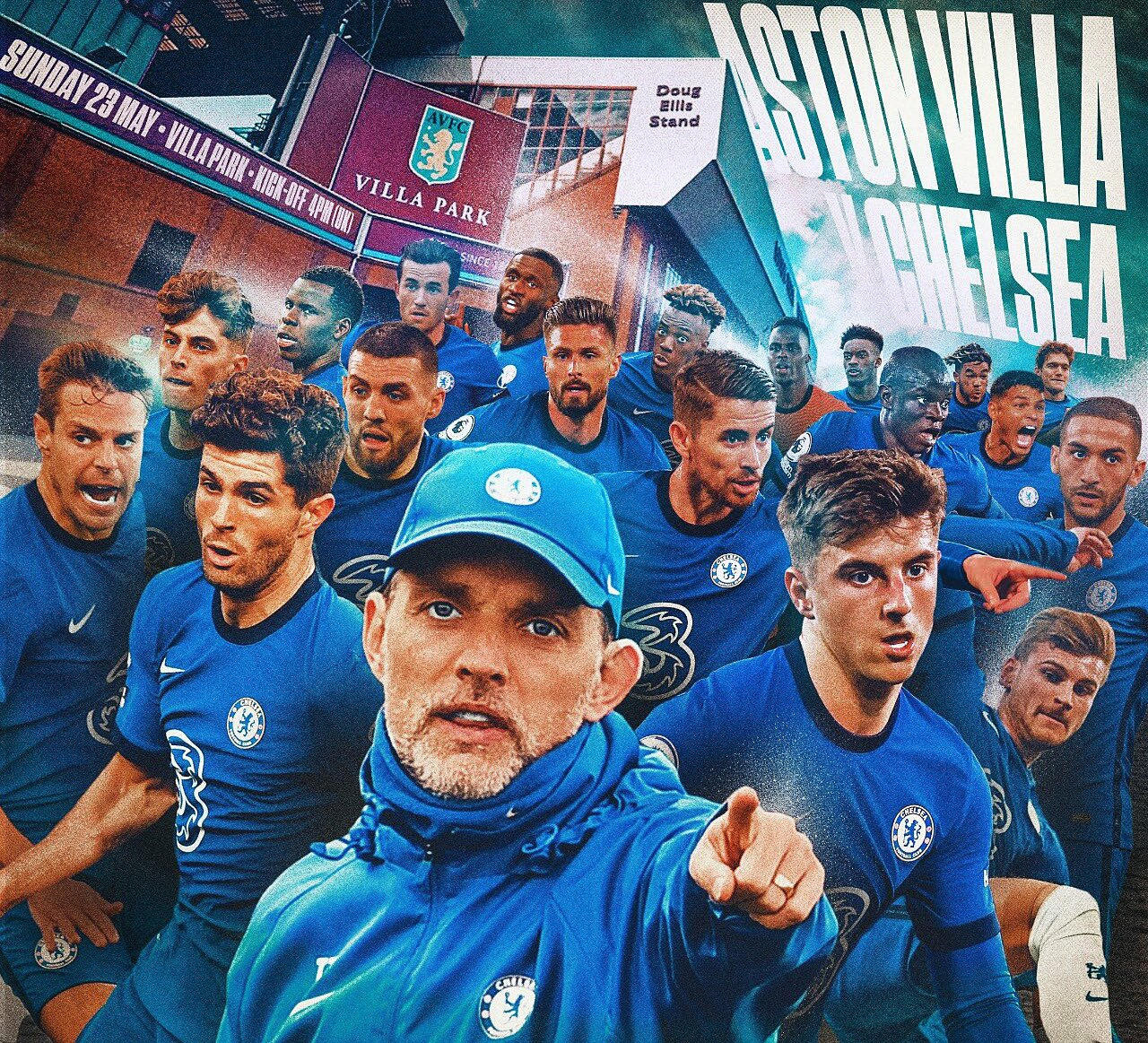 Aston Villa là rào cản cuối cùng của Chelsea trên đường đua tranh suất trong top 4 mùa này. Ảnh: Chelsea FC
