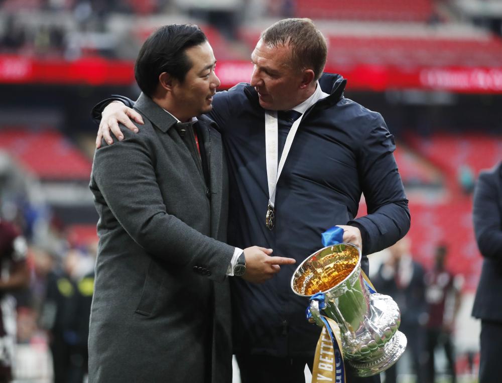 Mùa này, Rodgers giúp Leicester giành FA Cup lần đầu tiên trong lịch sử. Ảnh: Reuters.